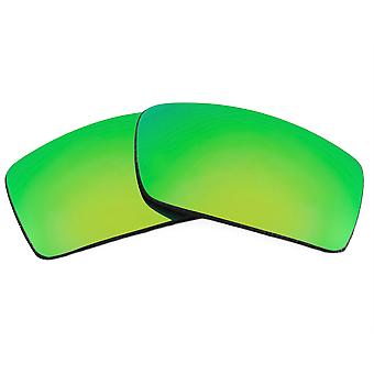 Replacement Lenses for Oakley Gascan Sunglasses Anti-Scratch Green Mirror