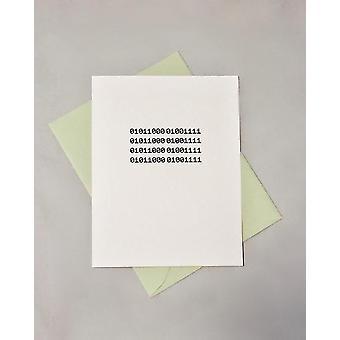 Xoxo Binary Code Card