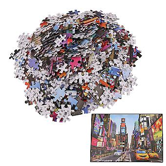 1000 Pieces Time Square Style Flat Paper Large Puzzles for Kids