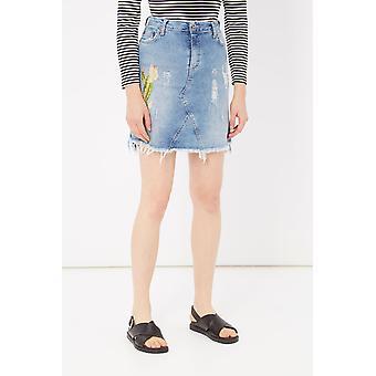 Blue Skirt Please Woman