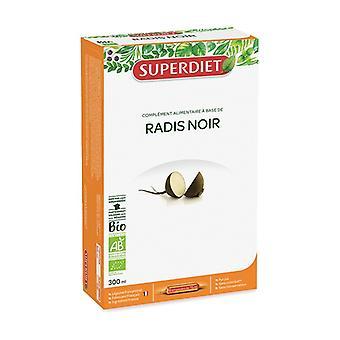 Organic black radish 20 bulbs of 15ml