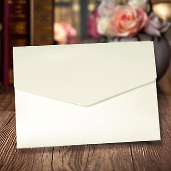 A6 Pocketfold Invitations Pearlescent Frost White Pack of 10