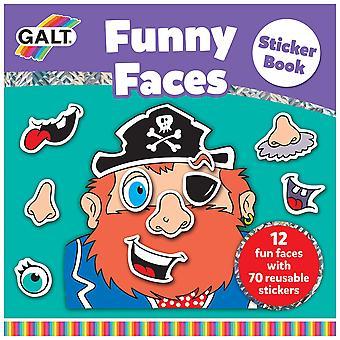 Galt zabawki śmieszne twarze naklejki książki