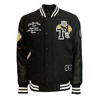 Top Gun Bulldog Wool-PU Jacket Black