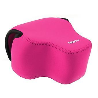 NEOpine νεοπρένιο αντικραδασμική μαλακή τσάντα περίπτωσης με το γάντζο για τη φωτογραφική μηχανή της Panasonic FZ1000 (Ματζέντα)