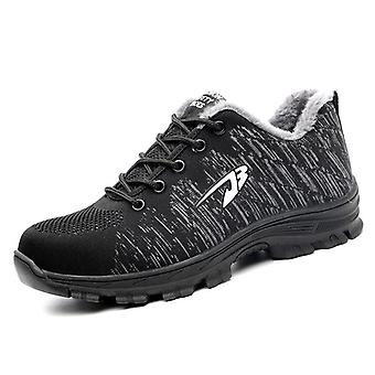 Men's Outdoor Mesh Light Breathable Safety Sneakers, punktionssichere Stiefel