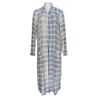 Lisa Rinna Collection Women's Sweater Tie Dye Duster Cardigan Blue A353571