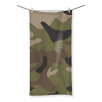 Multi camo beach towel