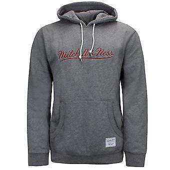 Mitchell & Ness Branded Essentials Hoodie Mens Logo Sweatshirt Grey MNNGRHT1