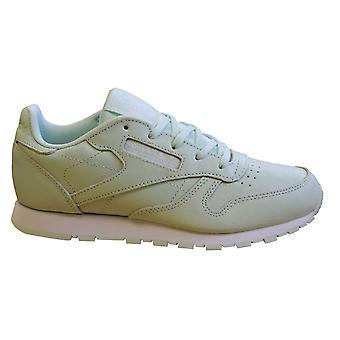 ريبوك كلاسيك النعناع الجلود الاطفال الدانتيل حتى تشغيل المدربين الفتيات أحذية DV4451