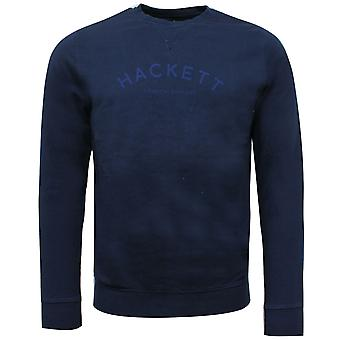 Hackett Mens Logo Crew Neck Sweatshirt Navy Jumper HM580673 595