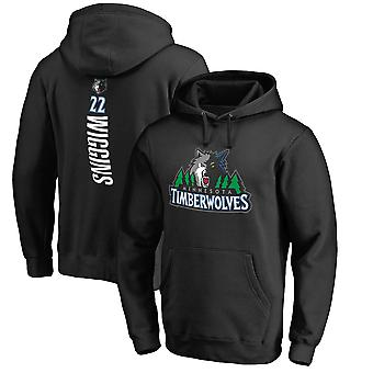 Minnesota Timberwolves No.22 Wiggins Pullover Hoodie Swearshirt Tops 3WY578