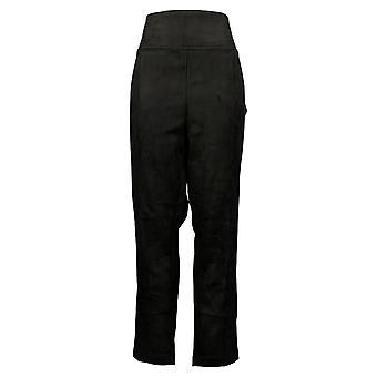 أندرو مارك المرأة & apos;ق السراويل XXL لينة ارتفاع ارتفاع سحب على حزام تمتد الأسود