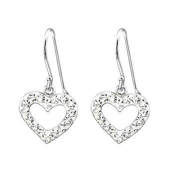 Heart - 925 Sterling Silver Crystal Earrings - W13862x