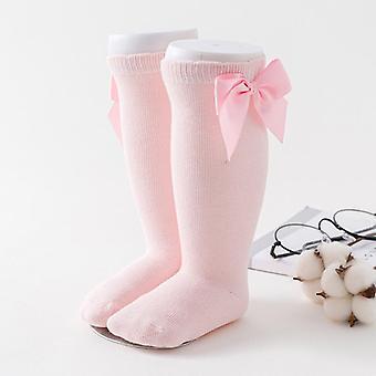 Lapset Iso Rusetti Polvi Pitkä Pehmeä Puuvilla Pitsi Vauvan sukka