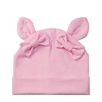 Talvi taapero kani rusetti puuvilla, beanie hattu sarjakuva, vauvan hatut konepelti