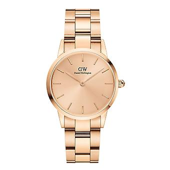 Daniel Wellington DW00100401 Iconic Unitone Rose Gold Tone Bracelet Wristwatch