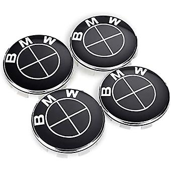 BMW Wheel Center Cap Black Death Hub Badge 56mm 4 PCS New Design 1 3 5 SERIES G SERIES