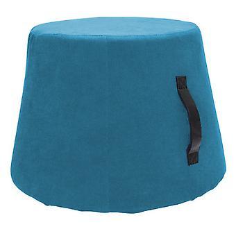 fußhocker 45 x 37 cm Polyurethan/Vlies hellblau