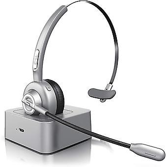 CSL - Bluetooth Headset mit Ladestation - Headset kabellos mit Mikrofon - Wireless - USB Ladeport -