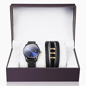 Stainless Steel Watch With Bracelet For Men's Gift