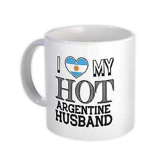 ספל מתנה: אני אוהב את בעלי הארגנטינאי החם ארגנטינה