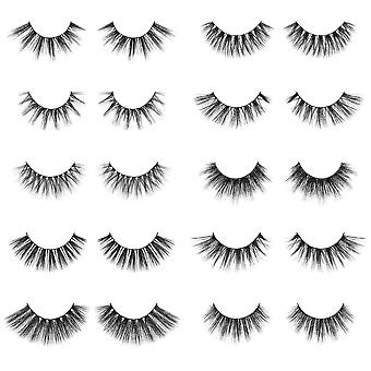 SHANY Classic Faux Mink Eyelashes - Durable Single Pair 3D Reusable Fluffy and Soft Strip Lash with Medium Volume