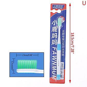 Ikke giftig ren ortodontisk seler, dental tandbørste sæt, en trim blød