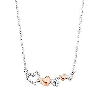 Liebe - Damen Halskette mit herzförmigen Anhänger, silber 925(2)