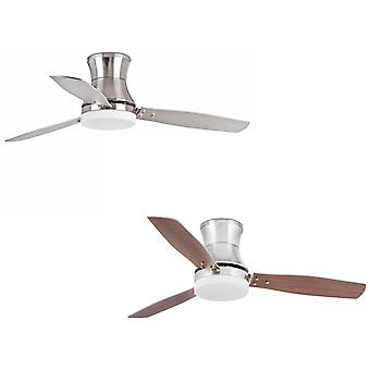 Ceiling Fan Tonsay Nickel with Light and Remote