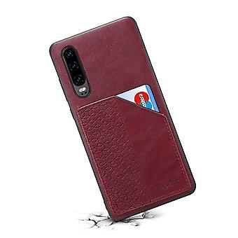 Lompakon nahkakotelo korttipaikka iphone xs max punainen no821
