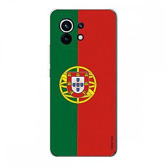 Capa para Xiaomi Mi 11 Silicone Macio 1 Mm, Bandeira Portuguesa