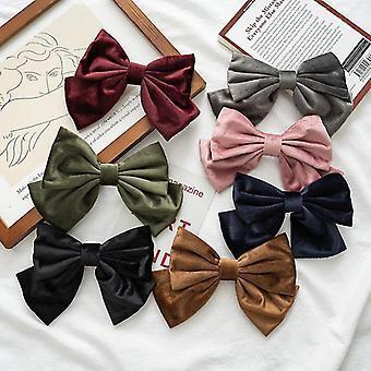 7Pcs cravatte stile flannelette fiocco per capelli accessori per capelli