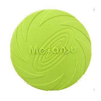 S 15cm green dog flying disc toy 5.9/7.1/8.7inch,pet training rubber frisbee,floating water dog toy interactive toys az7985