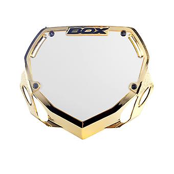 Box Phase 1 Large Chrome Number Plate Gold