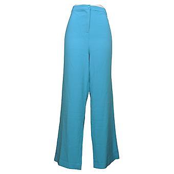 Linea por Louis Dell'Olio Pantalones de mujer tejidos pantalones largos azules A253576