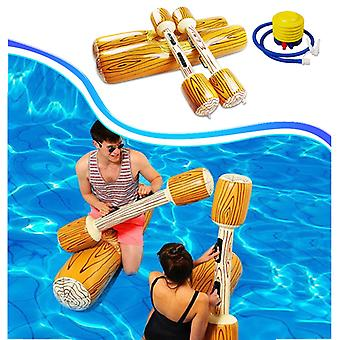 Swimming Pool Float Game Inflatable Water Sports Bumper Toys For Adult Children Party Gladiator Raft Kickboard Pool Toy 4PCS/Set