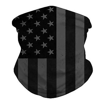 (E - drapeau américain) Impression 3D Col Réchauffer Tube Écharpe Snood Balaclava Masque facial
