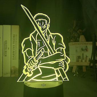 Ein Stück Zoro Kinder Schlafzimmer Anime Nachtlicht Tischlampe 3d Led Nachtlicht