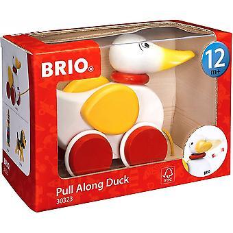 Brio 30323 Brio Trekk Langs Duck Hvit 12m+