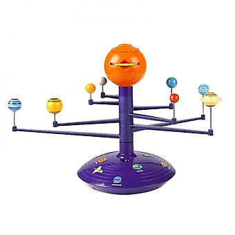 Technology Diy Colorful Solar System Sky Projector Led Rotating Ball Sound Control Music Player