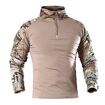 Män Outdoor Tactical militär vandring T-shirts Manliga armén Kamouflage Långärmad