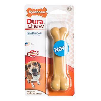 Nylabone Dura Chew Dog Bone - Jordnötssmör Smak - Varg