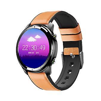 Chronus LF26 Smart Watch Men Multi-Functional Smartwatch Business IP67 Waterproof Health Monitor (Brown)