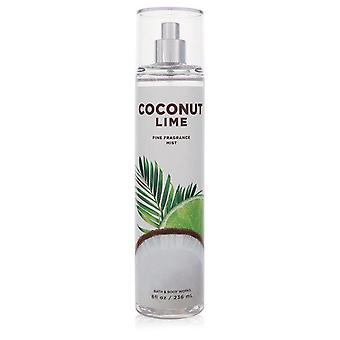 Bath & body works coconut lime body mist by bath & body works 557503 240 ml