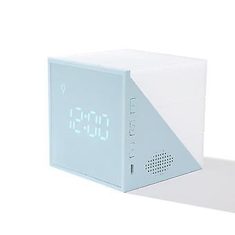 Magic Cube Led Budzik Nocna lampa dotykowa z kontrolą głosową (niebieska)