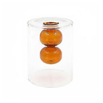 Nordisk design kreativ dubbelmålad glas dekor vaser (Brun)