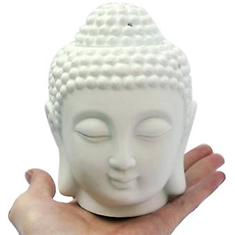 Buddha Head Candle Ceramic Aromatherapy Furnace Essential Oil Burner-candle Aroma Lamp