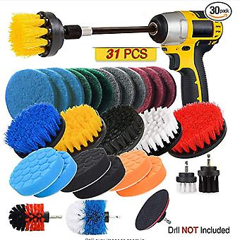 Electric Drill Brush Set 31 Piece Set Floor Brush Car Wheel Brush Polishing Brush Cleaning Brush