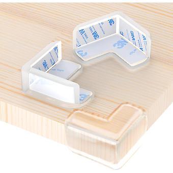 12 kulmasuojaa lasten turvallisuuden suojelemiseksi, pöytien ja huonekalujen kulmasuojaus, vauvojen ja lasten suojaaminen iskuilta, muoto L (